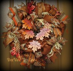 Fall+Deco+Mesh+Wreath+Fall+Leaves+Deco+Mesh+Wreath+Fall+Mesh
