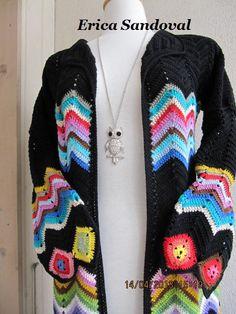 Chaleca hippie, diseño propio.
