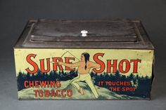 Sure Shot tobacco store tin. : Lot 92