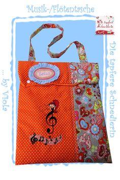Musik-/ Flötentasche von Die tapfere Schneiderin, handmade with love ... by Viola auf DaWanda.com