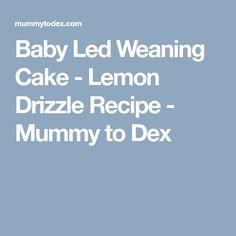 Baby Led Weaning Cake - Lemon Drizzle Recipe - Mummy to Dex