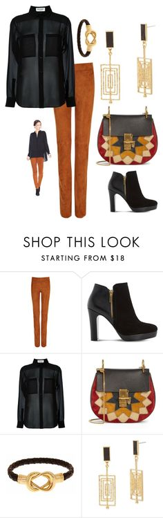 """""""Saturday ❣"""" by easy-dressing ❤ liked on Polyvore featuring Joseph, Dune, Yves Saint Laurent, Chloé, Fornash, Steve Madden, suede, sheer, WhatToWear and polyvoreeditorial"""