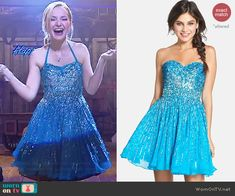 Liv's blue embellished New Years dress on Liv and Maddie.  Outfit Details: http://wornontv.net/41850/ #LivandMaddie