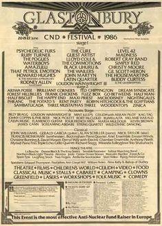 Glastonbury CND festival 1986