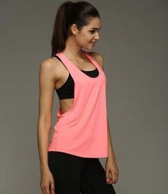 5cb9b28a42 Women Sports Shirt Sleeveless Vest Breathable Sports Jersey Cool Loose Yoga  Tops Fitness Running T Shirts Women Fitness Top