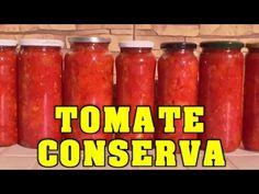 COMO ENVASAR - HACER CONSERVA CASERA DE TOMATE - VIVIR EN EL CAMPO - YouTube Empanadas, Chutney, Preserves, Pesto, Mousse, Cooking Recipes, Jar, Vegan, Canning Tomatoes