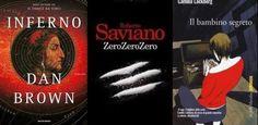 Tutti i libri presenti nella classifica libri più venduti nella settimana dal 12 al 18 maggio, Inferno di Dan Brown scalza dal podio Saviano