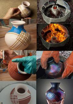 Raku Process. My FAVORITE way to fire pottery.