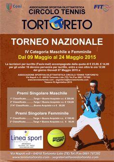 Tennis: Torneo di 4° categoria a Tortoreto