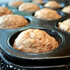 "Oat Applesauce Muffins | ""These hearty muffins will fill you up with fiber and flavor instead of fat."""
