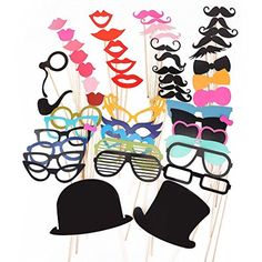 Cool Amazing New 2017 Wedding Photo Booth Props Bachelorette Party Wedding Accessories Wedding Photo Booth Props, Party Props, Party Set, Diy Party, Moustaches, Christmas Birthday, Christmas Wedding, Party Fotos, Cheap Wedding Decorations