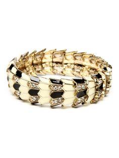 Amrita Singh on GILT. (Oh help me) Meshi Enamel & Crystal Scale Stretch Bracelet