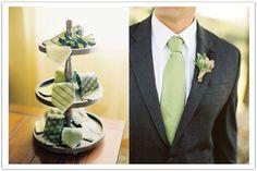 green tie rack & groom in green tie Like: the ole green, but would pair with a beige or tan jacket and pants Wedding Men, Wedding Groom, Wedding Styles, Our Wedding, Woodsy Wedding, Wedding Stuff, Wedding Flowers, Wedding Dress Suit, Wedding Suits