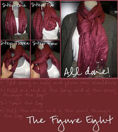 How To Tie A Figure Eight Scarf