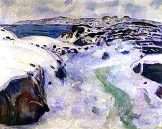 Winter on the Coast: Edvard Munch - 1915