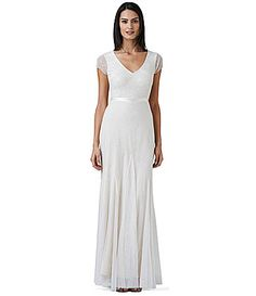 Adrianna Papell VNeck Beaded Dress