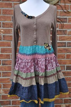 Bohemian Shift Dress, Indie, Baby Doll Tunic, Hippie, Country Farm Girl, Urban…