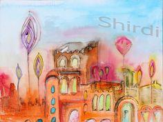 Abstrakte Kunst 30x40cm Leinwanddruck - ein Designerstück von Shirdi bei DaWanda