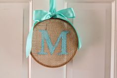 : How To: Monogrammed Embroidery Hoop