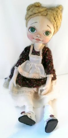 Unique art cloth dolls, handmade fabric dolls by KamomillaDesign Handmade Dolls, Fabric Dolls, Unique Art, Doll Clothes, Etsy Seller, Textiles, Hand Painted, Disney Princess, Create