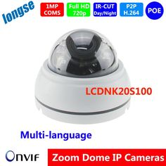 63.00$  Buy now - http://aliwg6.worldwells.pw/go.php?t=32611546989 - IR Dome Camera indoor 1.0MP 3-Axis Bracket  Varifocal 2.8-12mm lens, support multi-language POE 63.00$