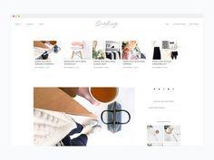 Minimal WordPress Theme- Darling by Bloom Blog Shop on @creativemarket