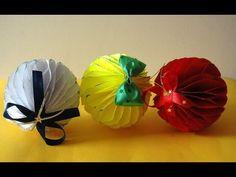 Bombki choinkowe jeżyki - z papieru, bibuły - ozdoby świąteczne - YouTube
