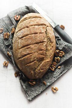 Rustic Wheat, Date & Walnut Bread | love food eat