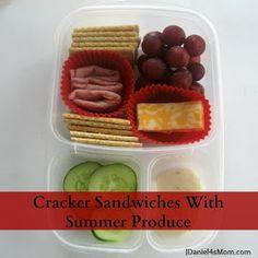 {Bento Lunch} Cracker Sandwiches