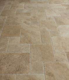 Travertine Tile - Antique Pattern Sets - Meandros Walnut Standard / Antique Pattern / Brushed, Chiseled, and Unfilled