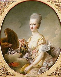 Marie Antoinette, Queen of France, as Hebe, Goddess of eternal youth, daughter of Zeus and Hera, who served nectar to the gods by François-Robert Drouais.