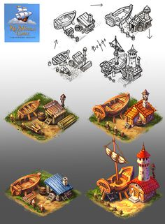 """Осваиваю новый стиль - """"мультяшный"""" Участвую в разработке мобильной игры """"NetWorld Game"""" об игре - http://welovebundles.ru/networld-game/"""