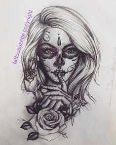- Girls with sleeve tattoos - Sugar Skull Girl Tattoo, Skull Rose Tattoos, Skull Hand Tattoo, Leg Tattoos, Body Art Tattoos, Girl Tattoos, La Muerte Tattoo, Catrina Tattoo, Day Of The Dead Tattoo Designs