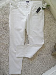BNWT NOT YOUR DAUGHTER'S JEANS 12 ANKLE WHITE~NYDJ LIFFTUCK WAIST 33~$140 #NotYourDaughtersJeans #ANKLE