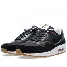 Nike Air Max 1 Femme/Homme Chaussures Anthracite Noir/Club Rose