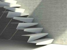 Zobacz zdjęcie Schody nowoczesne gięte z blachy i mocowane wspornikowo do ściany…