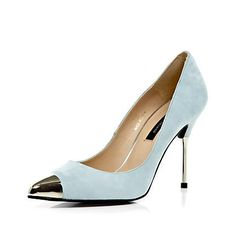 light blue pointed court shoes - heels - shoes / boots - women - River Island