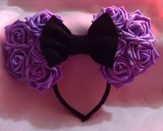 Minnie Mouse Ears large rose by CrazyBeautifulCreati on Etsy