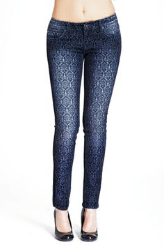 """The """"Crest"""" print on these teaser skinnies are too cute- super feminine without being over the top!"""