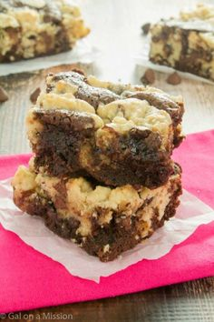 Under-baked brownies are always the best kind. A cookie dough layer doubles up on the doughy goodness. Get the recipe from Gal on a Mission.