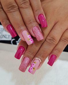 Se Vc Ama Unhas Clique 2 Vezes na Foto e Aprenda Técnicas de Manicure Profissional Acrylic Nail Designs, Nail Art Designs, Acrylic Nails, Spring Nails, Summer Nails, Toe Designs, Finger Painting, Stylish Nails, Love Nails