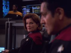 "talsi74656: ""mylittleredgirl: ""Don't look now, Chakotay, but your captain seems to want to do unspeakable things to you. "" Look now, Chakotay!!! Look now!!!! """