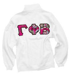 Gamma Phi Beta Pink Cupcake Stitch (Vera Bradley) Lettered 1/4 Zip  $57.50