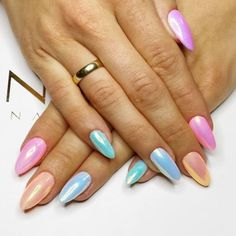 Iridescent Pastel Rainbow - These Pretty Pastel Nails Are Perfect For Spring - Photos