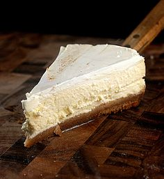 Skinny Cheesecake made with Cottage or Yogurt Cheese.  Super creamy and tastes just like full-fat cheesecake. You'd never know it was only 245 calories a slice!