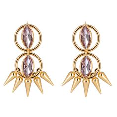 DREAMS ARE DREAMS gold plated and vintage crystal earrings