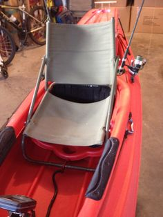 16 Best Sit in kayak, DIY high seat  Made from old folding Chair