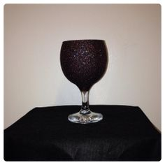 This brown glitter glass is stunning in any light!