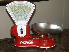 Vintage 1920 s Toledo 3 lb Candy Scale Machine Coca Cola