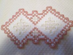 Hardanger Doily Norwegian Embroidery Dusty Rose | eBay